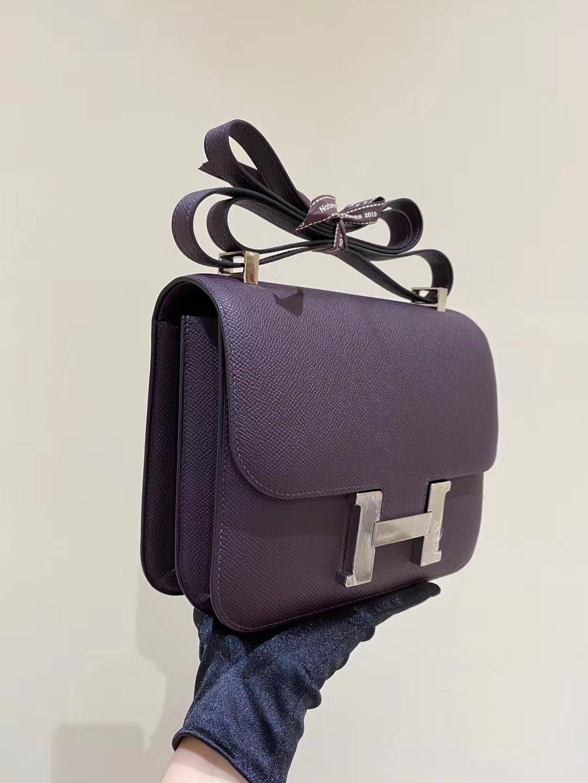 香港灣仔區愛馬仕康康空姐包 Hermes Constance 24cm 59 葡萄紫 Raisin
