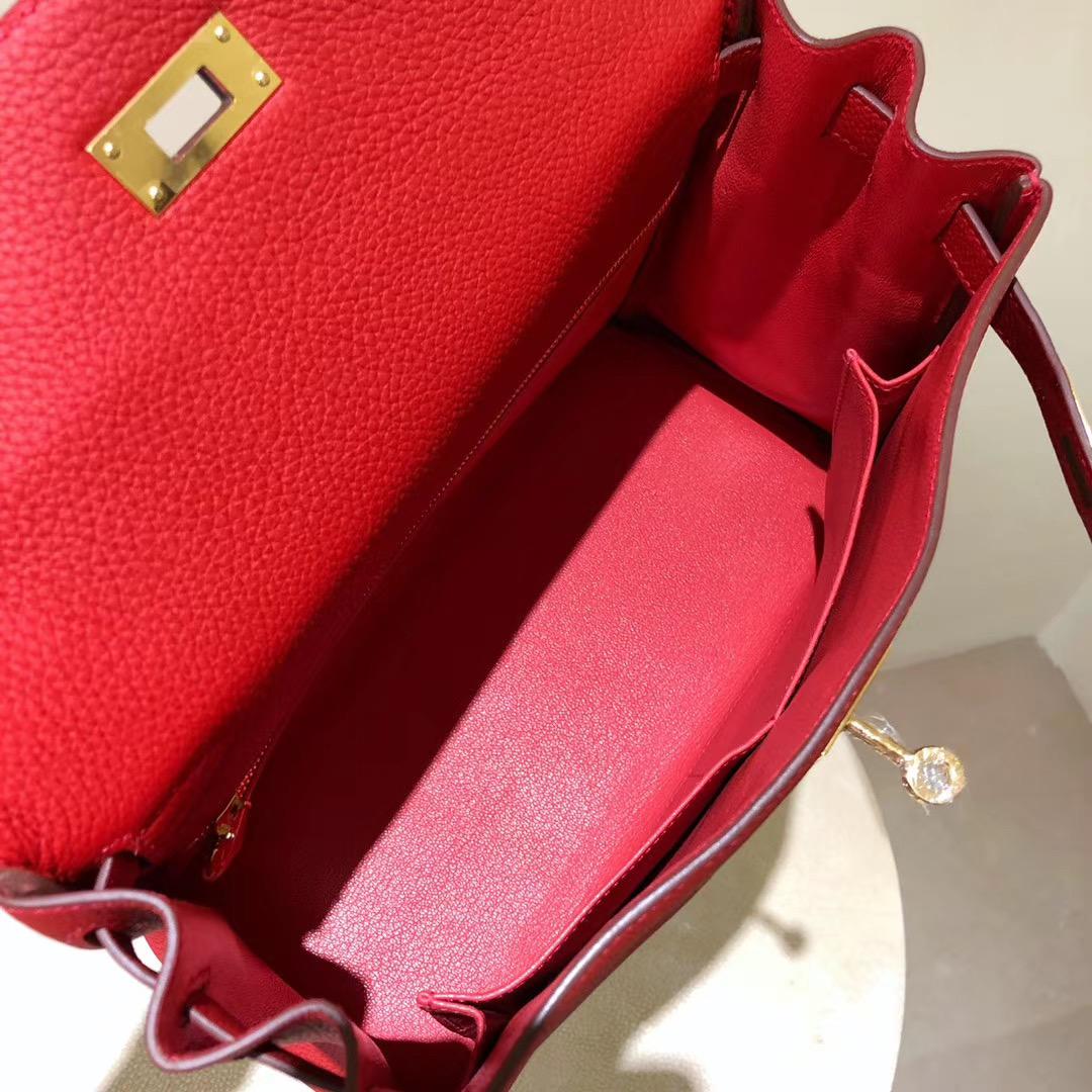 香港深水埗區愛馬仕凱莉包 Hermes kelly 28cm Touch Q5 國旗紅 Rouge casaque