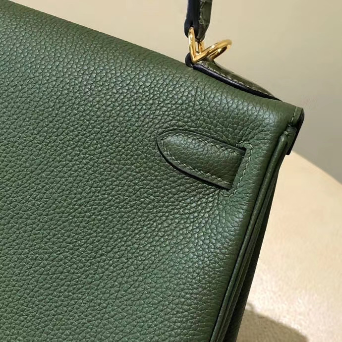 Hermes kelly 28cm Touch V6叢林綠 Canopee CK61 Vert Olive 橄欖綠