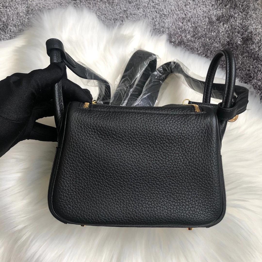 Toronto Canada Hermes mini Lindy taurillon Clemence CC89 黑色