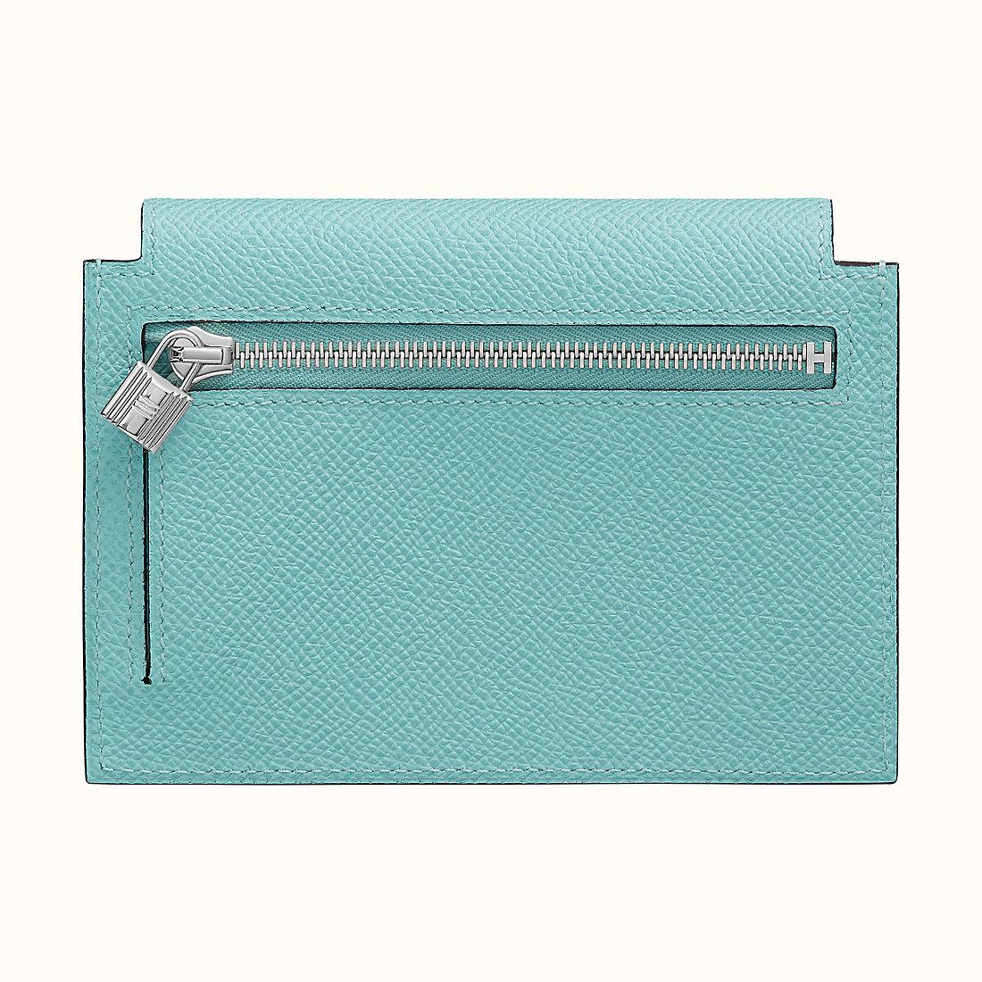 大嶼山區愉景灣 Hong Kong Hermes Kelly pocket compact wallet 3P Blue Atoll