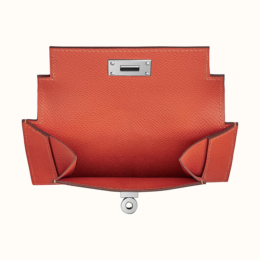Hong Kong Hermes Kelly pocket compact wallet 短錢包 R1 紅土色