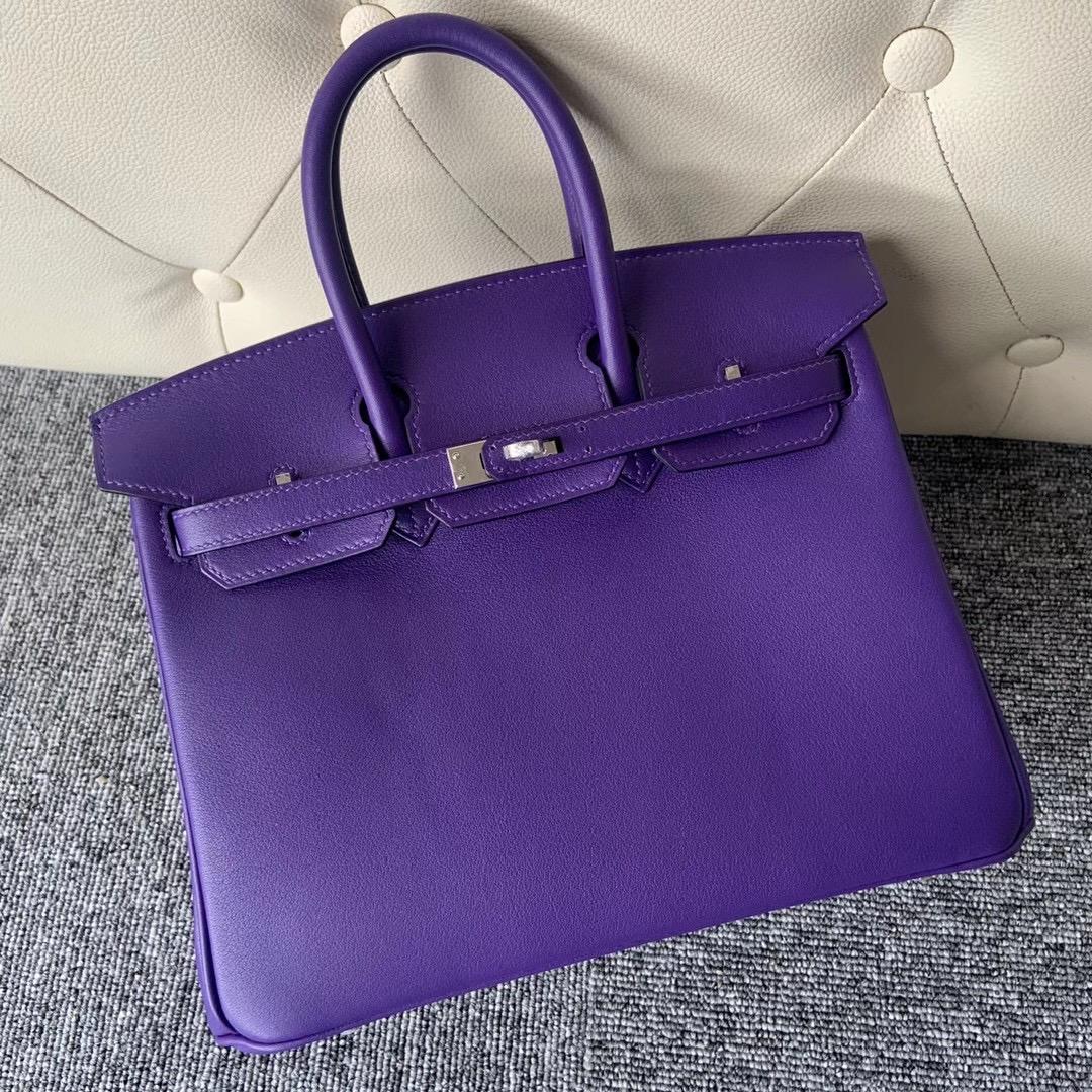 Vietnam  Hanoi Hermes Handbag Birkin 25cm Swift 9W Crocus 梦幻紫