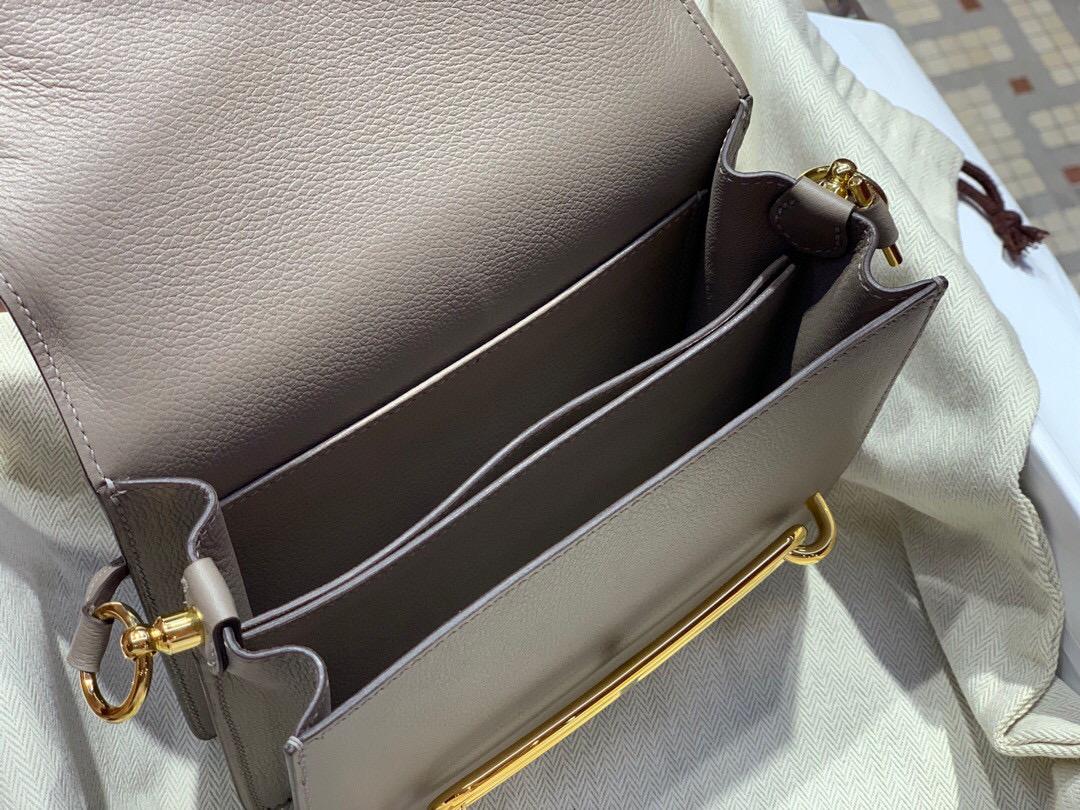 Hermes Roulis mini Evercolor M8 瀝青灰 Gris Asphalte 全手工蜜蠟線縫製