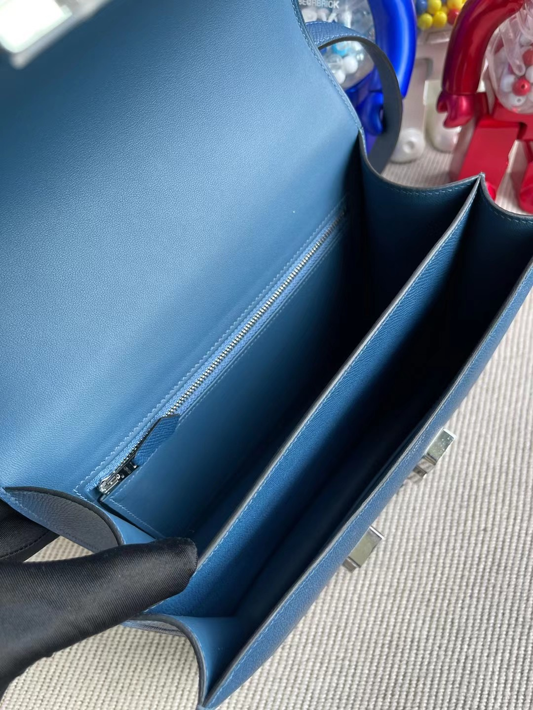 Hermes Constance 24cm Epsom S4 Deep Blue 深邃藍 琺瑯扣 Enamel 客定出貨