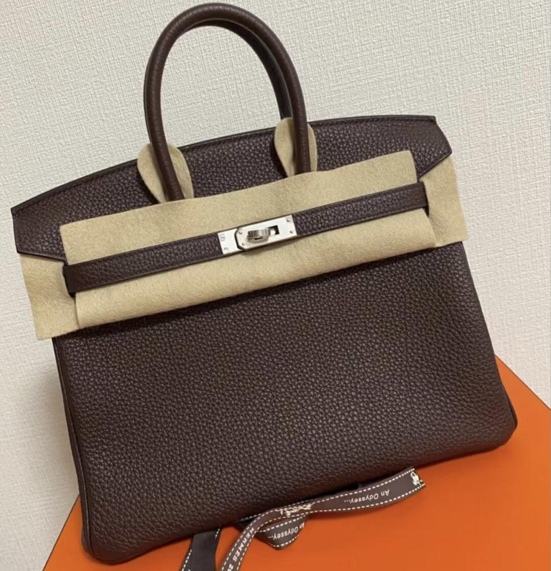 Hermes Birkin 25cm Togo leather 0G Rouge Sellier 马鞍红