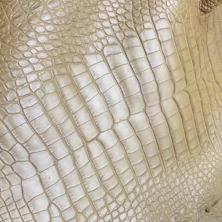 愛馬仕包有幾種皮質 Hermes 2H Kraft 牛皮紙色 霧面美洲鱷魚
