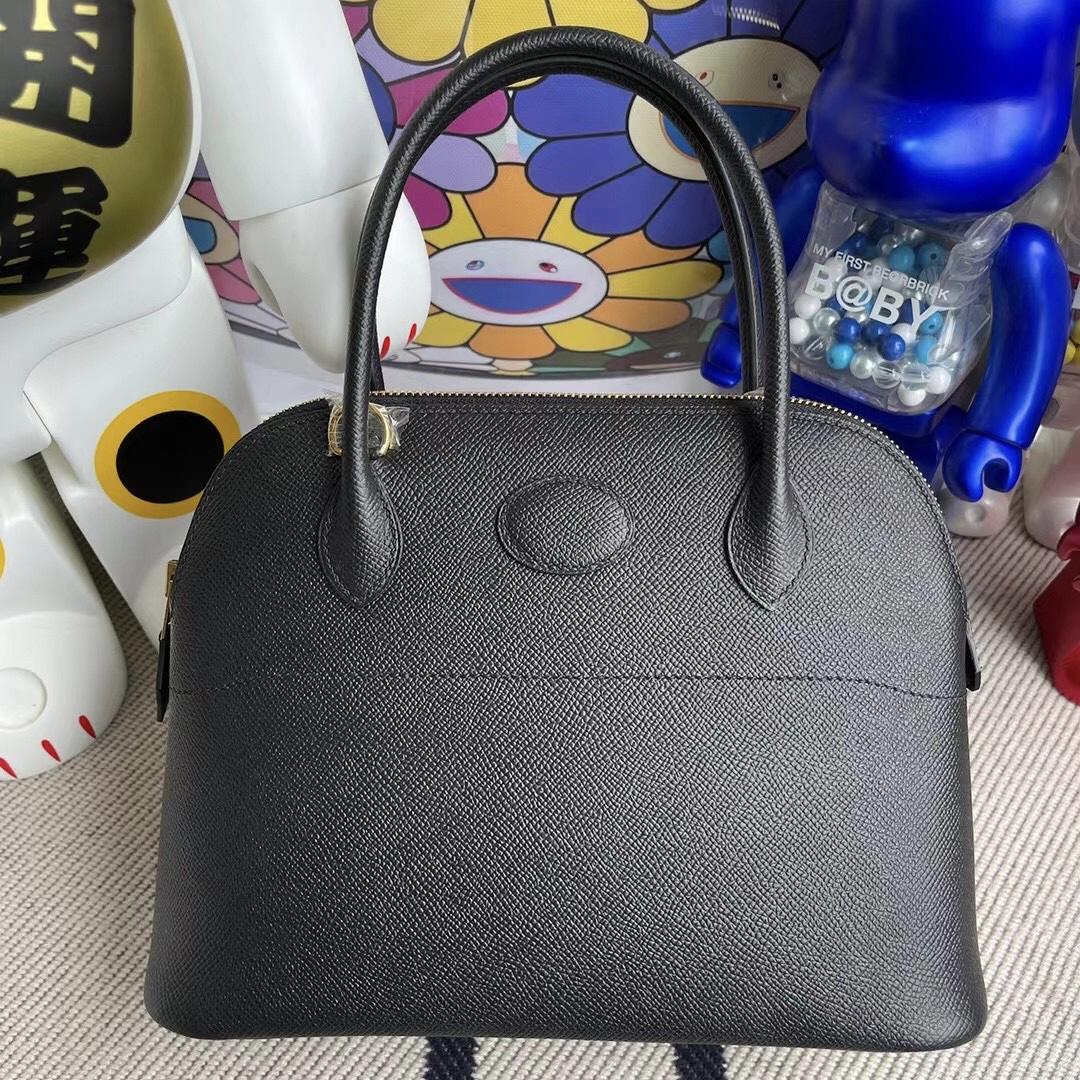 愛馬仕寶萊包專櫃價 Hermes Bolide 27 Epsom CK89 黑色 Noir 金扣