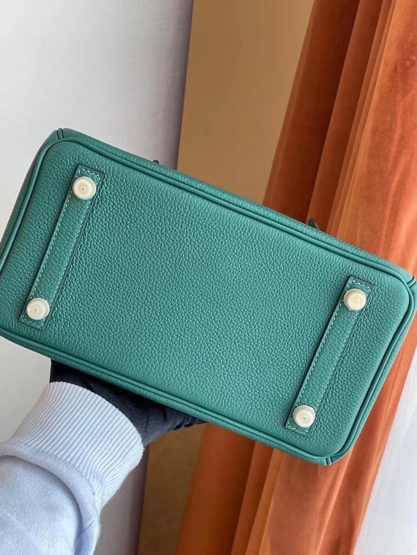 愛馬仕鉑金包圖片及價格 Hermes Birkin 25 Togo Z6 Malachite 孔雀綠 金扣