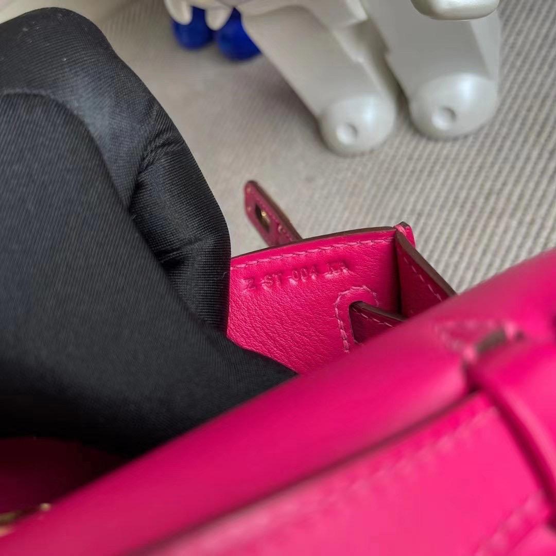 Hermes MiniKelly Pochette 22 Swift 0D Rose Mexico 墨西哥粉 金扣