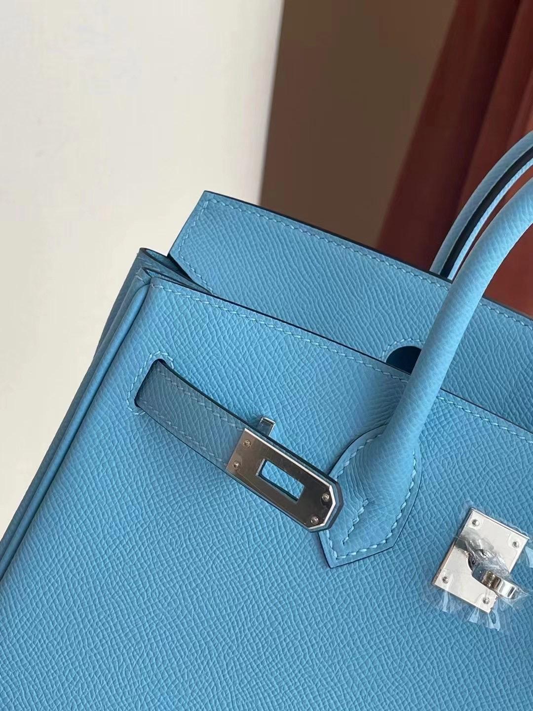 愛馬仕鉑金包官網價格 Hermes Birkin 25cm Epsom P3 Bleu Du Nord 北方藍
