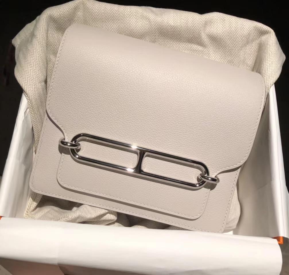 Hermes Roulis MINI Evercolor CC80 Gris Perle 珍珠灰