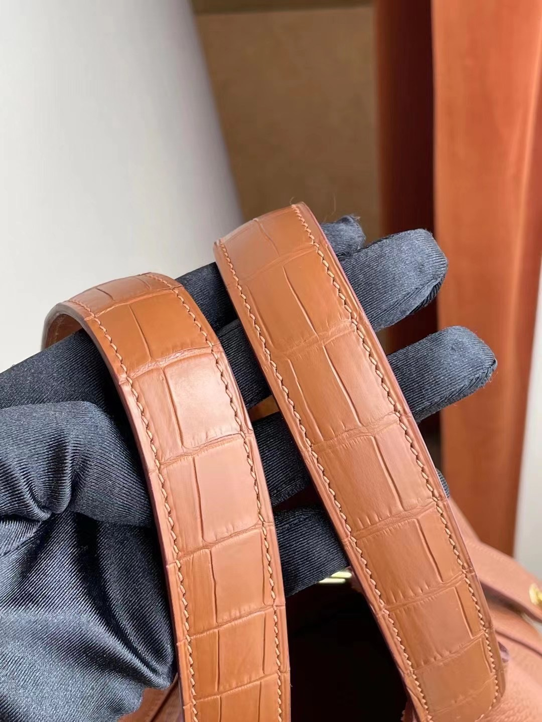 Hermes Picotin Lock 18 Touch Clemence/Matte Crocodile 37 Gold 金棕色