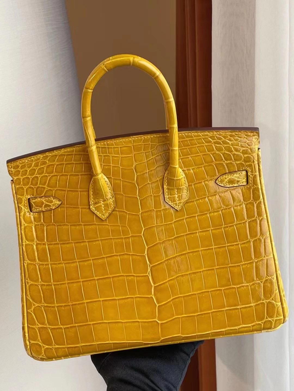 愛馬仕鉑金包圖片 Hermes Birkin 25cm 9D Jaune Amber 琥珀黃 招財黃