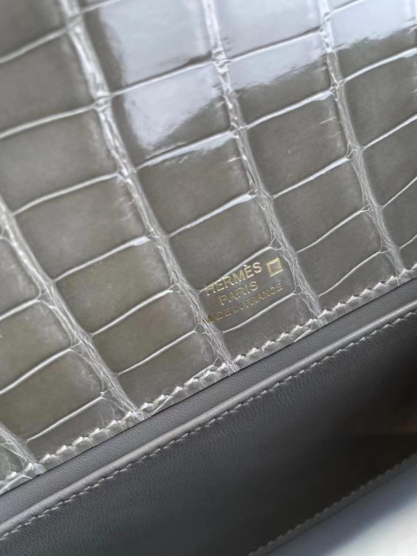 Dubai Hermes MiniKelly Pochette 81 Gris Tourterelle 斑鳩灰 美洲鱷魚