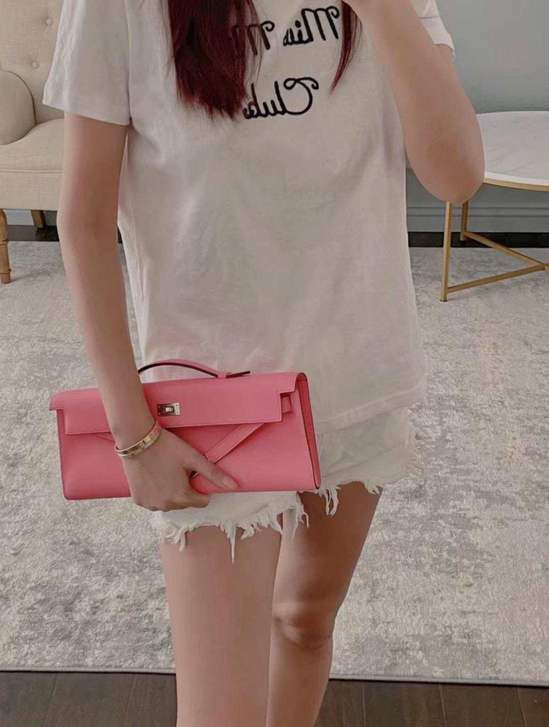 Saudi Arabia Hermes Kelly cut 31cm Swift 3Q Rose Sakura