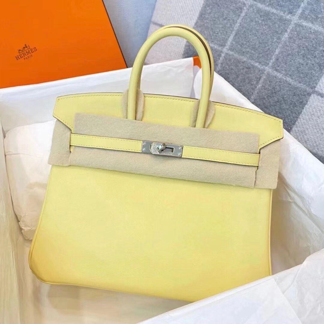 愛馬仕鉑金包圖片及價格 Hermes Birkin 25cm Swift 1Z 小雞黃 jaune poussin