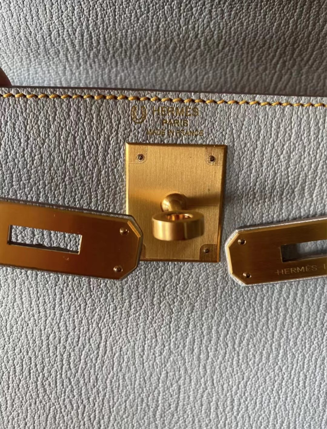 Hermes HSS Kelly 25 Chevre Mysore 80 Gris Perle 珍珠灰 磨砂金扣 馬蹄印