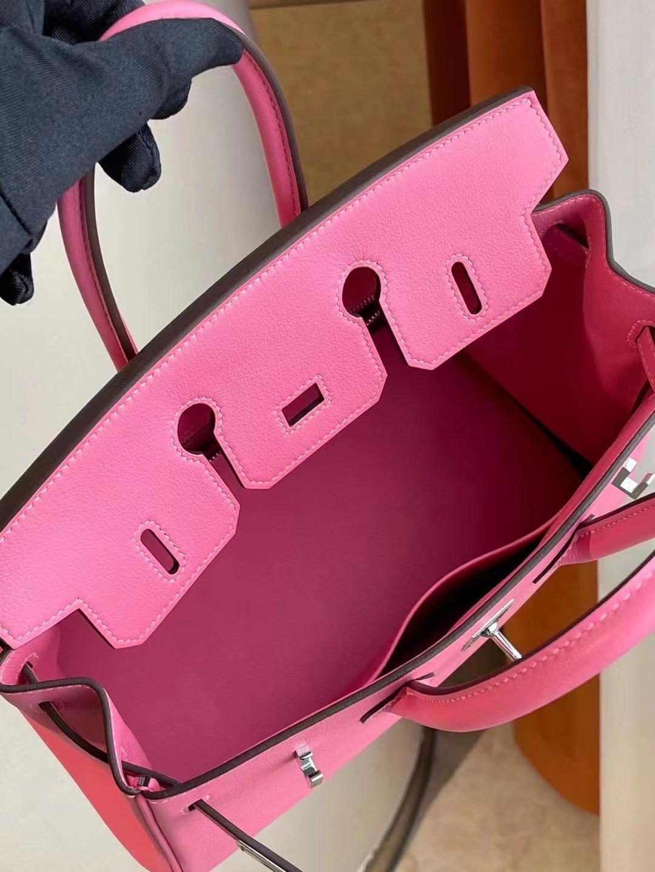 Dubai Hermes Birkin 25cm Swift leather K4 Rose Dete 夏日粉 PHW