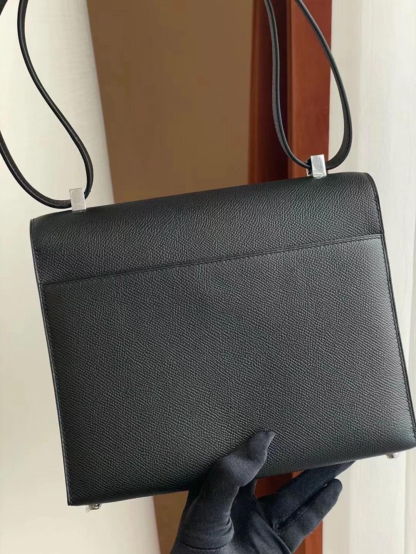 San Joze USA Hermes Verrou 21 bag Epsom calfskin CK89 Noir 黑色