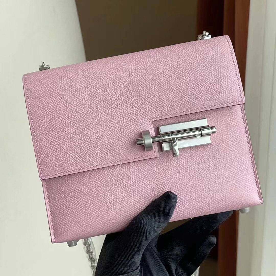 Saudi Arabia Hermes Verrou Mini Epsom X9 錦葵紫 Mauve Sylvestre