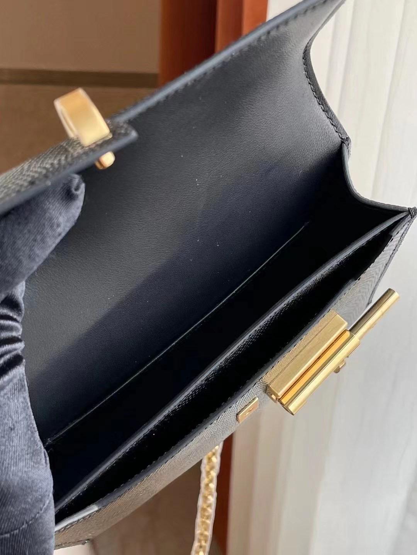 愛馬仕手槍包 插銷包 Hermes Verrou Mini Lizard 蜥蜴皮 89 Noir 黑色