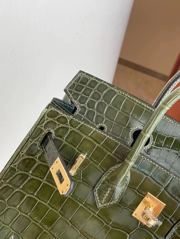 Hermes Birkin 25cm 6H Olive green 橄欖綠 尼羅鱷魚 Shiny Nilo Crocodile