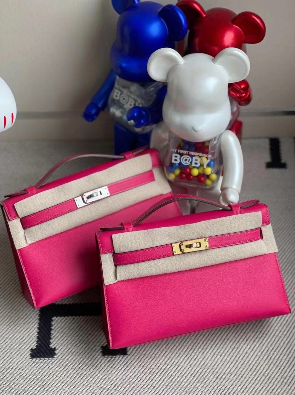Hermes MiniKelly Pochette Swift 新顏色 0D墨西哥粉 Rose Mexico