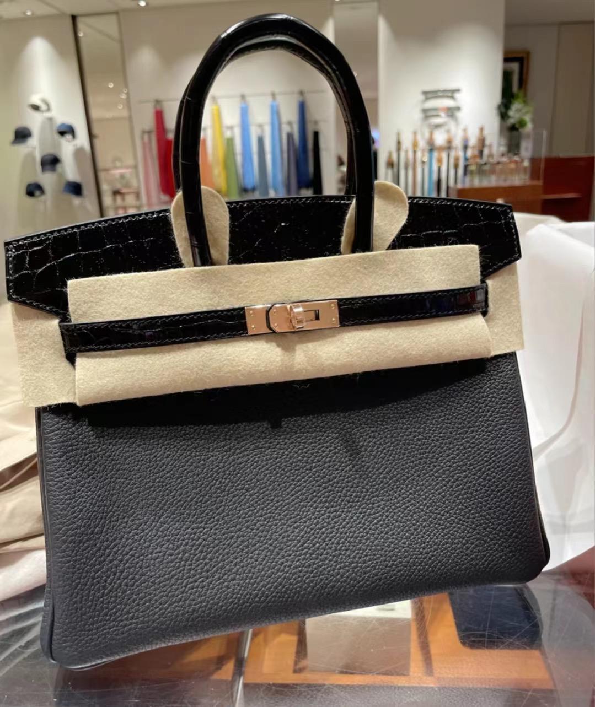 Saudi Arabia Hermes Handbag Birkin 25 Touch 89 Noir 黑色 玫瑰金扣