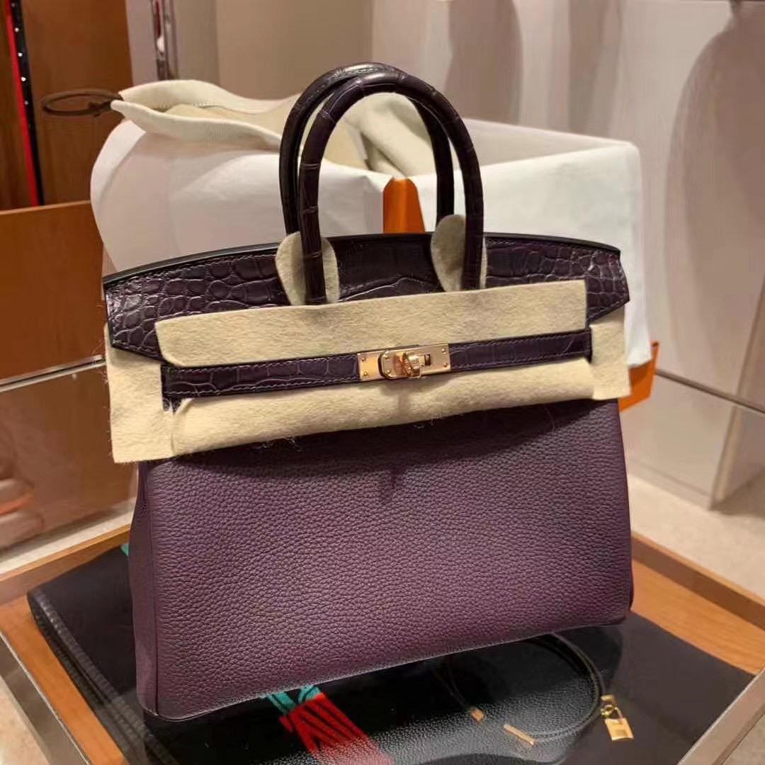 Hermes Handbag Birkin 25cm Touch All hand sewn with honey wax thread