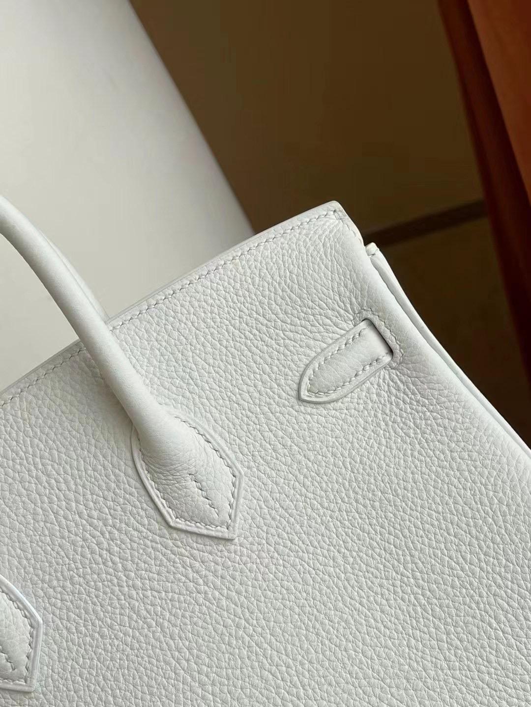 愛馬仕鉑金包圖片 Hermes Birkin 25cm Togo 01 Blanc 白色 銀扣