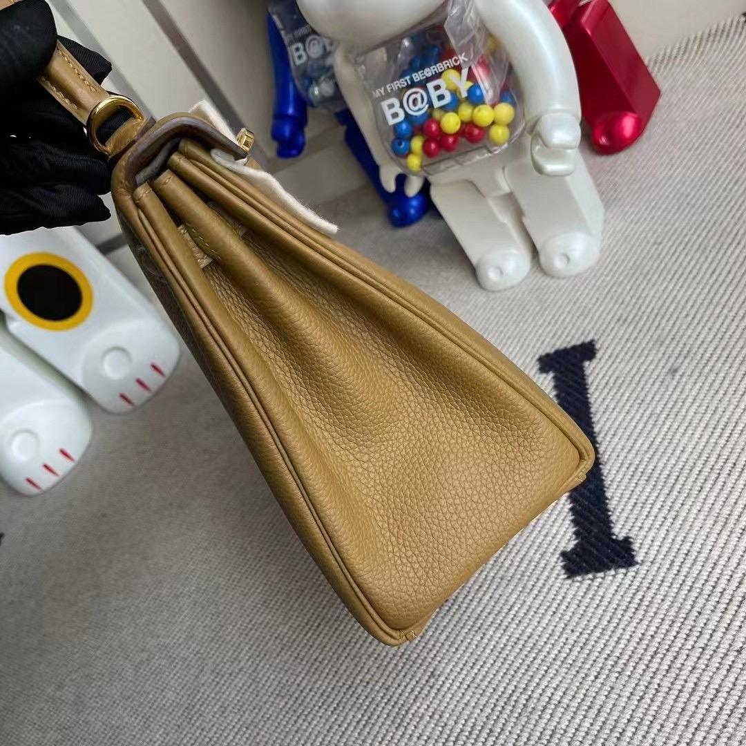 Hermes Kelly 25cm Handbag Togo U8 Bronze 金銅色 金扣