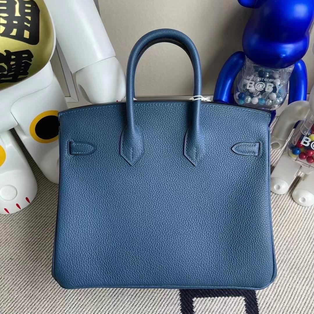 愛馬仕鉑金包基本款價格 Hermes Birkin 25 Togo S4 Deep Blue 深邃藍 銀扣