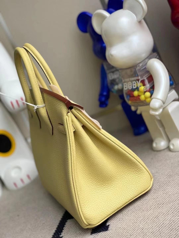 愛馬仕鉑金包專櫃價格多少 Hermes Birkin 25 Togo 1Z jaune poussin 小雞黃 金扣