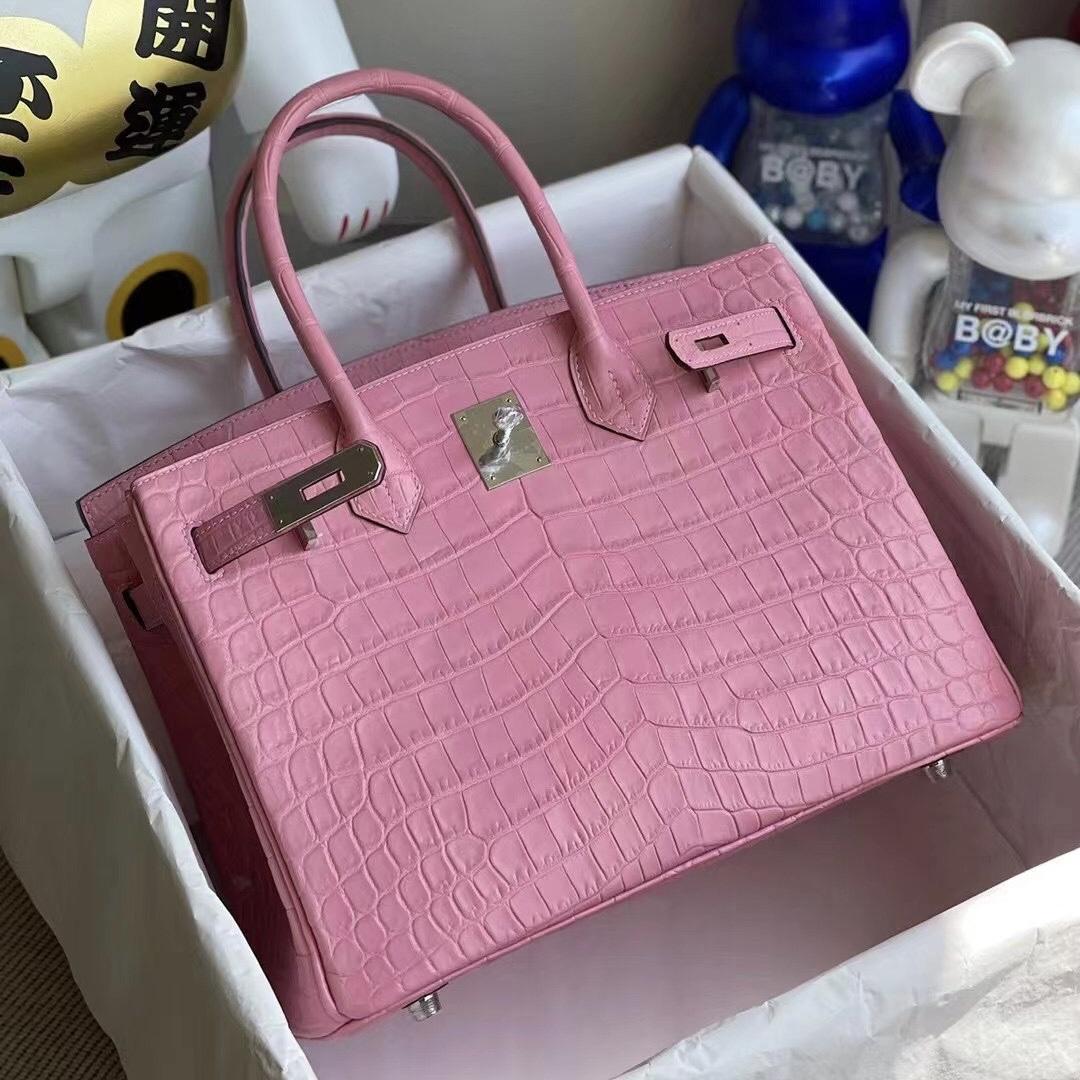 Hermes Birkin 30 5P bubblegum pink 櫻花粉 尼羅鱷魚原裝HCP鱷魚皮