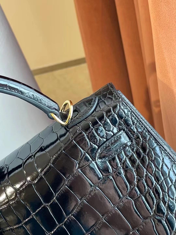 愛馬仕2021年新刻印Z刻 Dubai Hermes Kelly 25cm 89 Noir 黑色 亮面美洲鱷魚