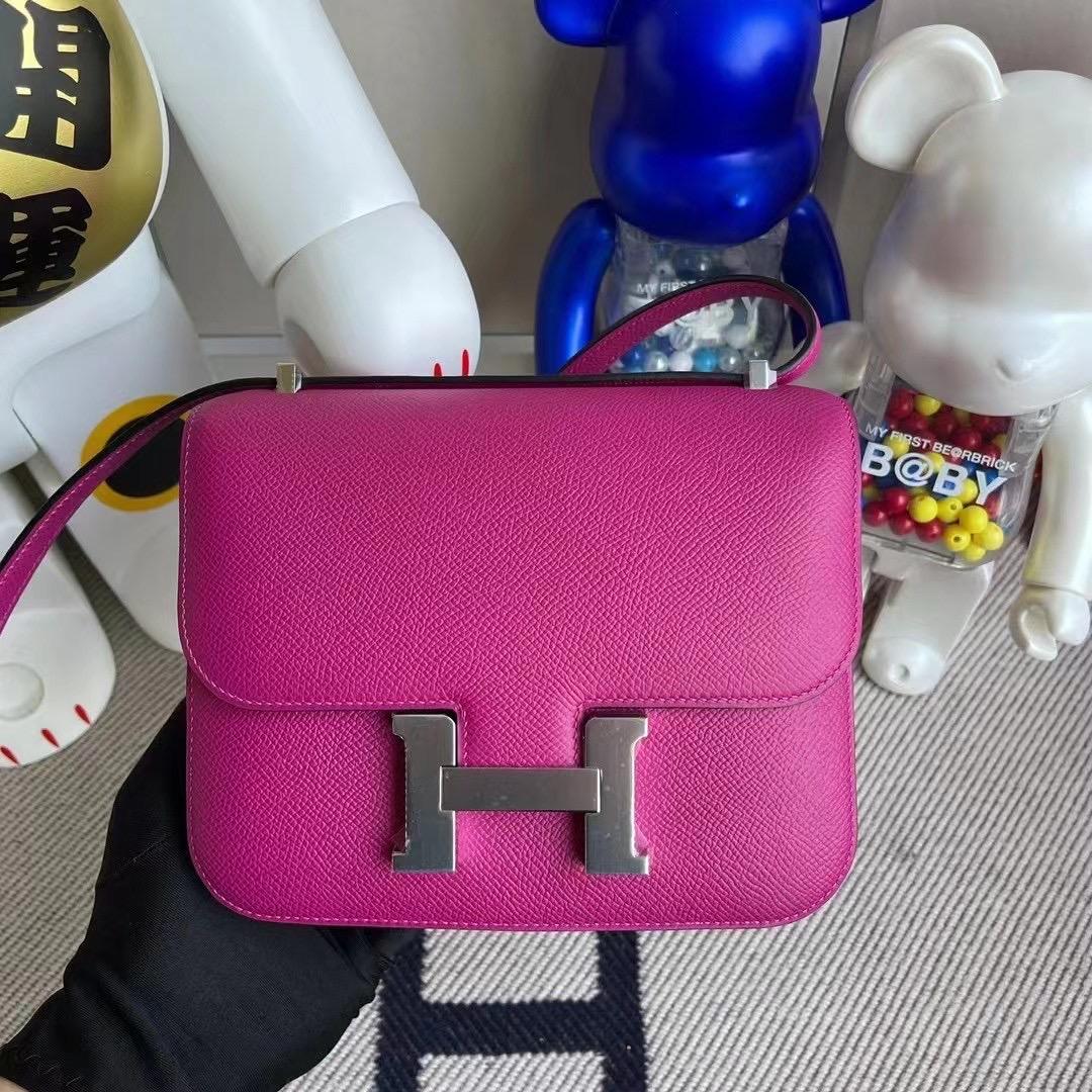 Canada Hermes Constance Mini Epsom L3 Rose Pourpre 玫瑰紫 銀扣