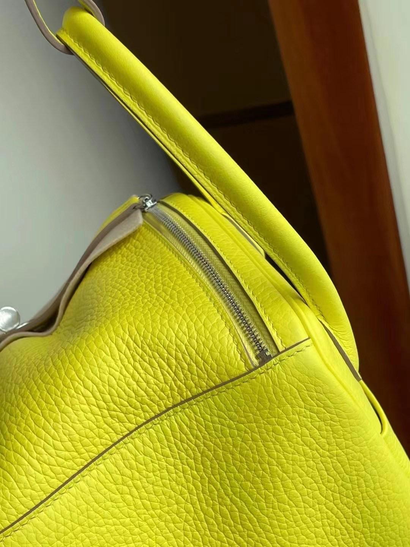 Hong Kong Hermes Lindy 26 9R Lime 檸檬黃 Taurillon Clemence 銀扣客定出