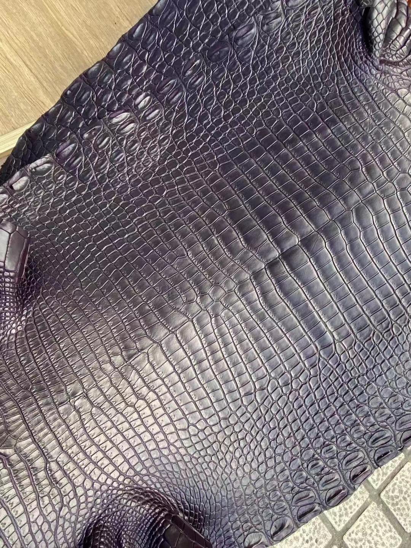 Hermes CK59 Raisin 葡萄紫 Shiny Porosus Crocodile 灣鱷