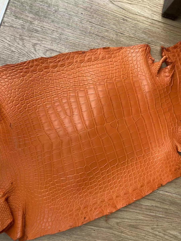 Hermes 美洲鱷魚 Matte Alligator Crocodile 8V Orange Poppy 罌粟橘