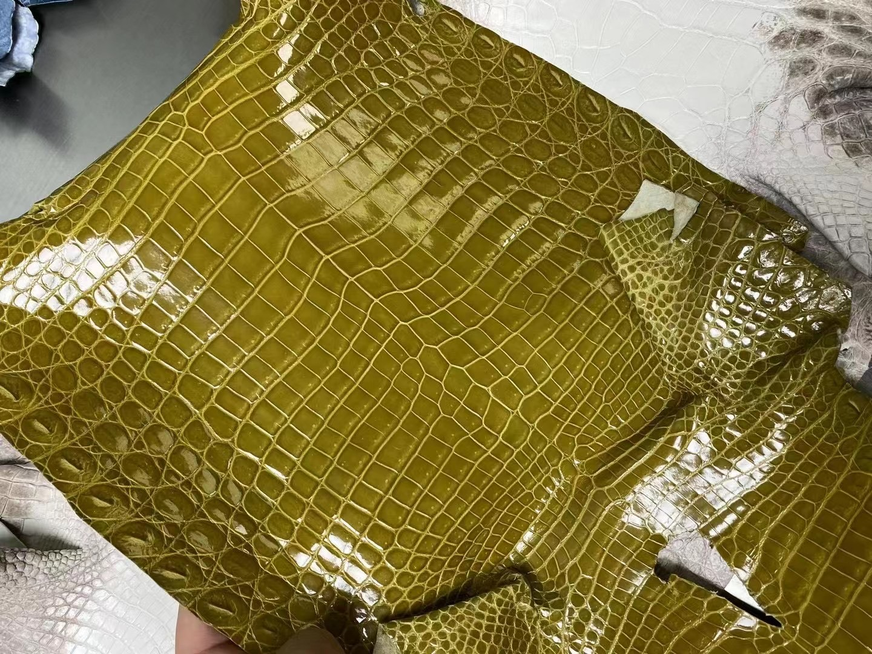 Hermes Shiny Nilo Crocodile 60 Vert Bronze 青銅綠 尼羅鱷接受訂製