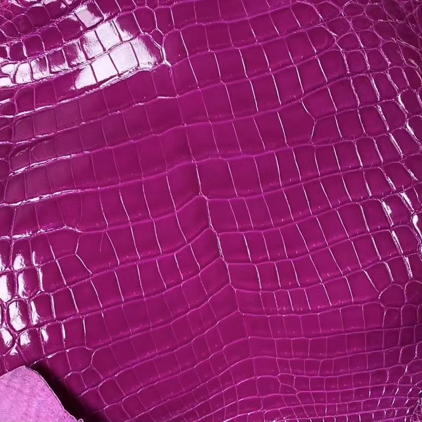 Hermes Shiny Nilo Crocodile J5 天方夜譚粉紫 Rose Sheheraradez 尼羅鱷