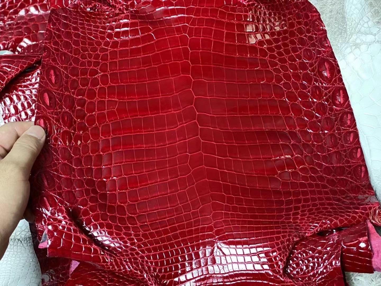 愛馬仕皮革分類大全 Hermes 亮面尼羅鱷魚 55 Rouge H 愛馬仕紅