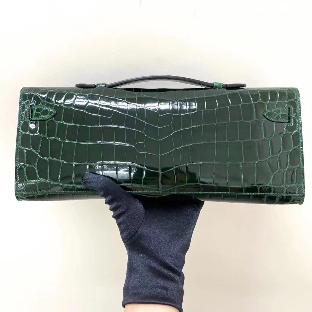Hermes Kelly Cut 31cm CK67 祖母綠 Vert Fonce 手拿包