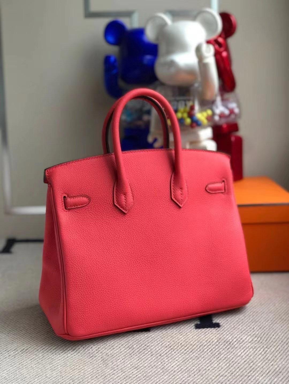 Hermes Birkin 25cm Togo T5 Rose Jaipur 蜜桃粉 金扣 全手工縫製