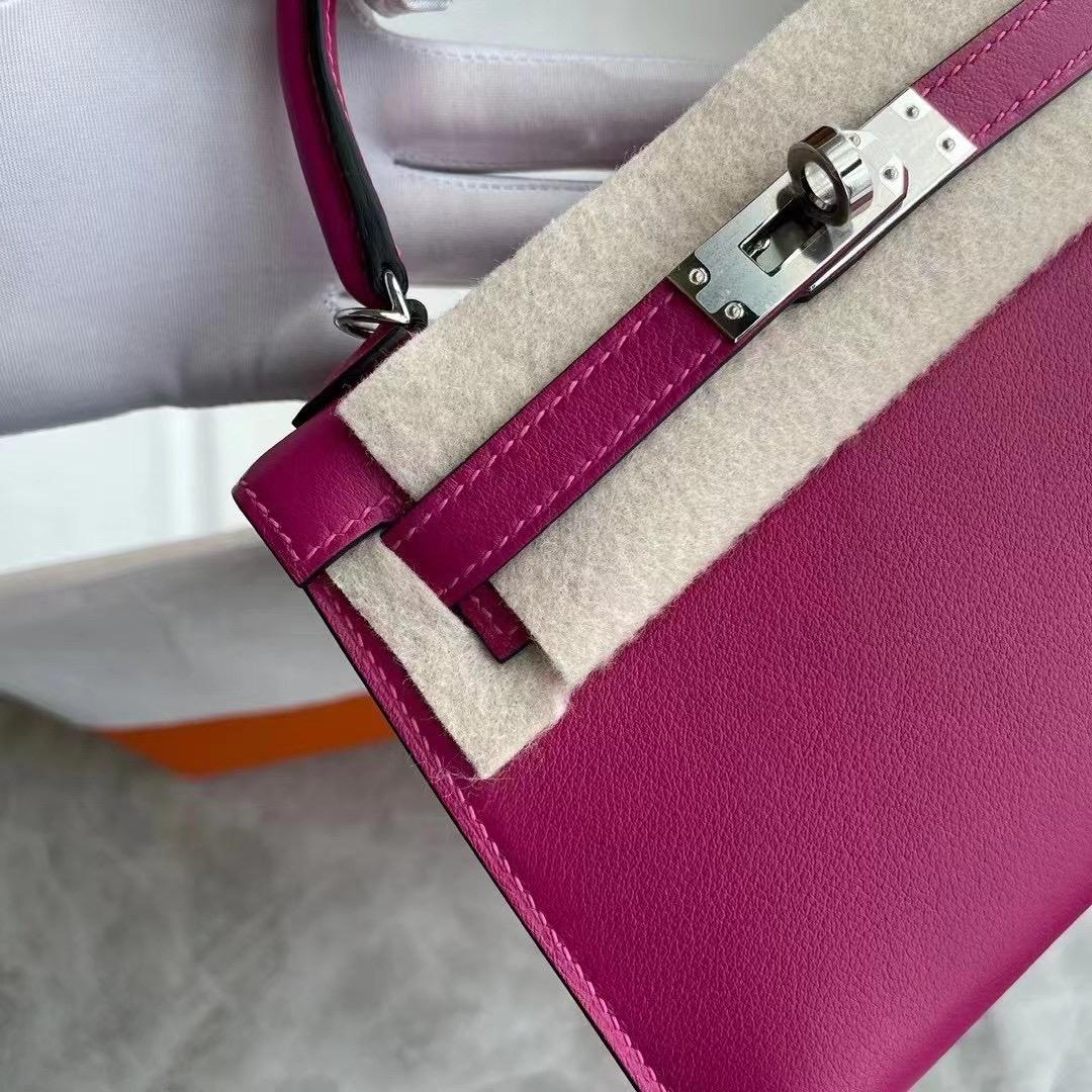 Hermes Kelly Mini Ⅱ 19cm Swift L3 Rose Poupre 玫瑰紫 銀扣