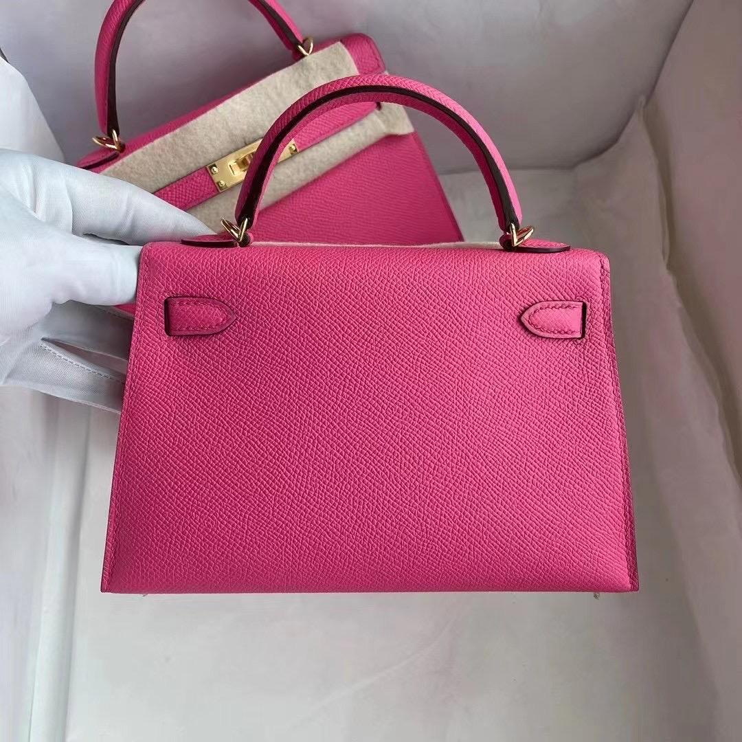 Hermes Kelly Mini Ⅱ Epsom 5R Rose Shocking 熒光粉色 艷玫瑰色 金扣