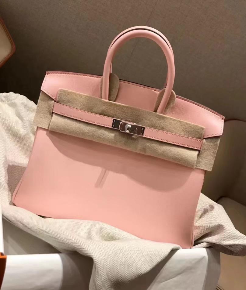 Hermes Birkin 25cm Swift Calfskin 3Q Rose Saiura 新粉色 櫻花粉 PHW