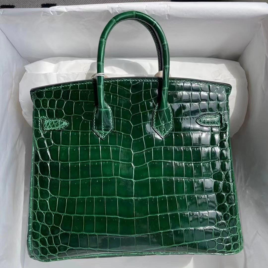 United Arab Emirates Hermes Birkin 25 Nilo Crocodile 67 祖母綠 Vert Fonce