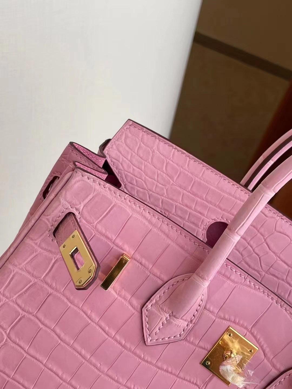 Qatar Doha Hermes Birkin 25cm 5P Pink 櫻花粉 尼羅鱷 金扣